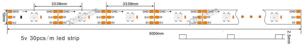 DC5V WS2813B 3535 Addressable Programmable Magic color